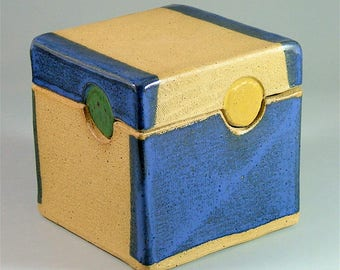 Clay Hand-built Box-Shaped Container