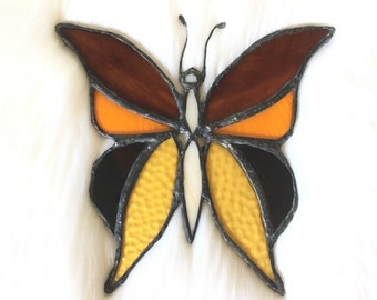 Vintage Stained Glass Butterfly