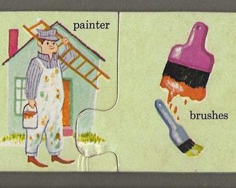 Vintage Mid Century Children's Illustration - Painter