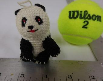 Crocheted Panda Ornament