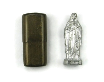 German Sacred Heart of St. Mary Pocket Shrine