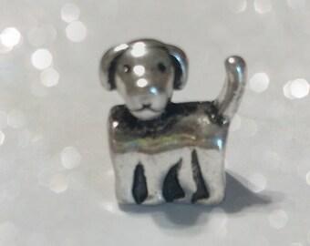 Small Dog Big Hole Charm Bead for Big Hole Jewelry