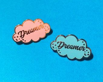 Dreamer Pin - Daydreamer Pin - Dreamer Enamel Pin - Positive Vibes Pin - Star and Moon Pin - Cloud Enamel Pin - Cute Enamel Pin - Cloud Pin