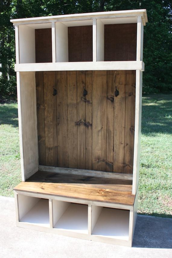 Hall Tree Locker Foyer Free Shipping Country Rustic