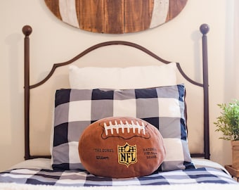 Wooden football,baseball, basketball, boy's room, sports, pallet, game room, man cave, garage