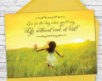 Life Without End At Last - Encouraging Greeting Card