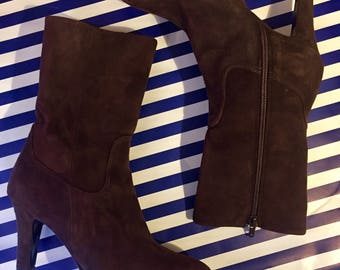 Brown suede Ankle Boots by Vero Cuoio