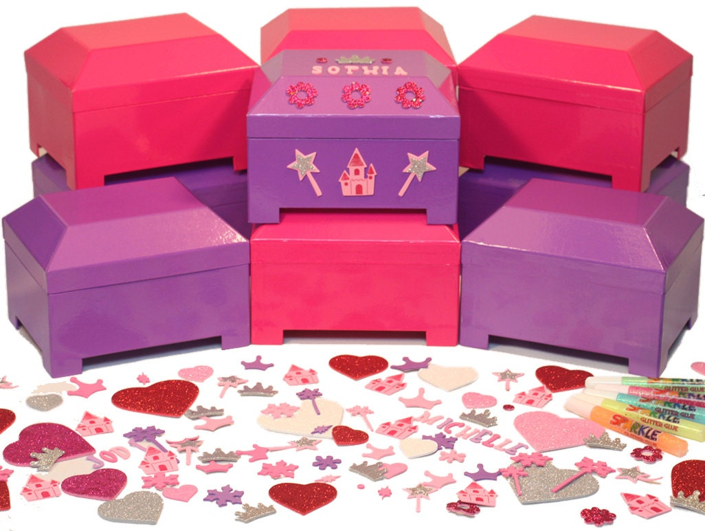 Princess Birthday Party Jewelry Box Craft Kit Activity and