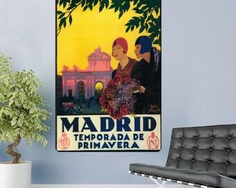 Madrid Spain Temporada De Primavera Wall Decal - #60752