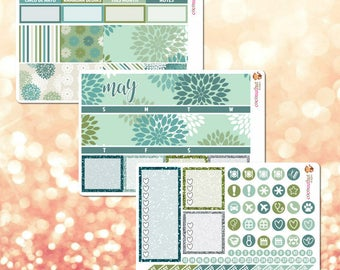 May Monthly Kit, March Monthly View Sticker Kit for Erin Condren Life Planner - 110 stickers!
