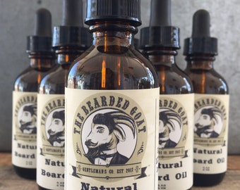 The Bearded Goat All Natural Beard Oil with a Gentlemen's Scent of Cedarwood, Cypress and Vetiver. Man Gift