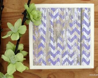 Tile Coasters - Ceramic Coasters - Rustic Coasters - Ceramic Tile Coasters - Coaster Set - Table Coasters - Purple Coasters - Coaster