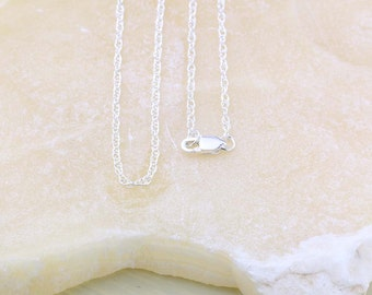 Sterling Silver Rope Chain, Dainty Chain for Lightweight Pendant, Double Rope, Link Necklace 925 Silver, Chain Only, Choose 16, 18 or 20 in