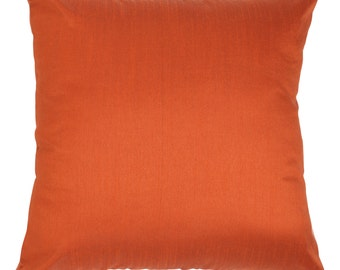Set of 2 Solid Rust Pillow Cover & Euro Sham Covers Rust Accent Pillow Solid Rust Pillow Cover Solid Rust Throw Pillow Bedding