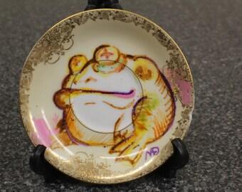 Frog Noritake Goldcella Saucer