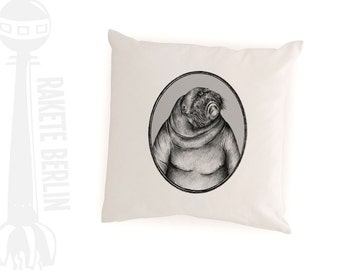 cushion cover  'Walrus drawing'