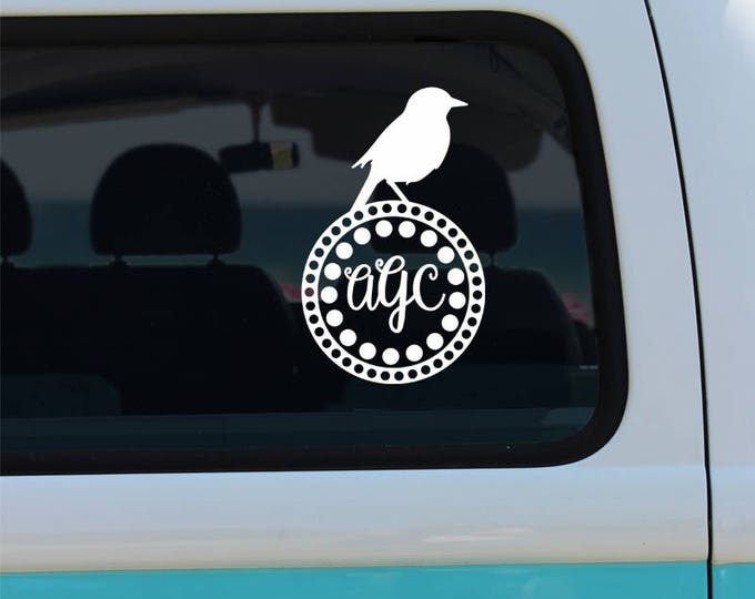 Bird Monogram Decal