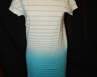 Turquoise and Ivory Goldworm Dress