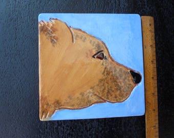Marblehead Bear Head Tile