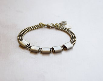Bracelet chain and brass rings