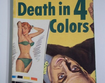 Death In 4 Colors by Brandon Bird Dell Mapback #531 1950 Vintage Mystery GGA Paperback