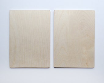 "Coptic Bookbinding Wooden Covers 4x6"" WITHOUT HOLES"