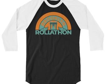 Brooklyn Rollathon   Retro Roller Derby Shirt   3/4 sleeve raglan shirt