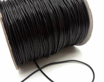 5 meters of black, waxed cord, 2 mm diameter