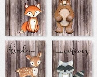 Superb Woodland Nursery Set, Boys Room, Fox Picture, Woodland Theme, Baby Shower  Gift