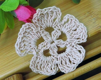 Tiny Crochet Flowers, 100 x 4cm, Various Colours, Free Shipping