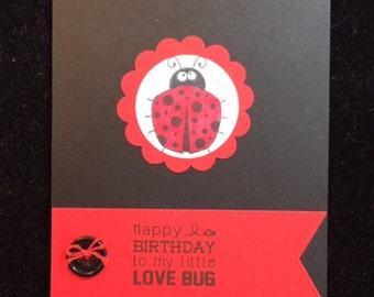 Happy Birthday Love Bug Birthday Card