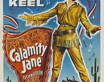 Calamity Jane Movie Poster  A3/A2/A1 Print