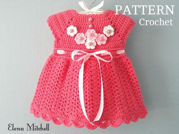 Crochet PATTERN Baby Dress Baby Girl Pattern Crochet Newborn