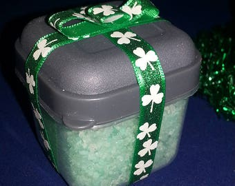 Pot Of Gold Bath Salts - Spearmint - Dead Sea Salt-Sea Salt-Epsom Salt Blend - St. Patrick's Day