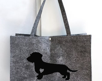 Felt bag Wire-haired Dachshund - Teckel