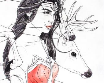 Wonder Woman Fine Art Print
