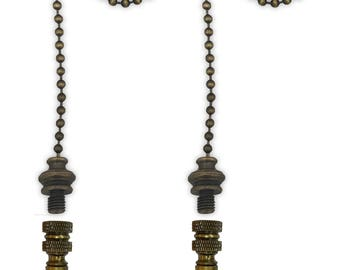 Royal Designs Fan Pull Chain with Spade Leaf Finial – Antique Brass