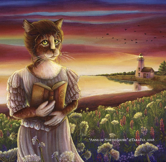 Anne of North Shore Cat Art 11x14 Archival Reproduction Print