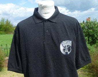 MoreMead© Polo Shirt. Drink More Mead. Viking Polo. Mead Polo, Mead Top. More Mead Top. More Mead merchandise.
