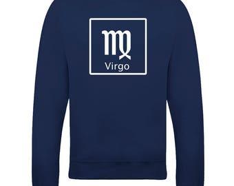 VIRGO 'THE VIRGIN' horoscope Earth sign - astrological symbol Men's Sweatshirt From FatCuckoo SW2098