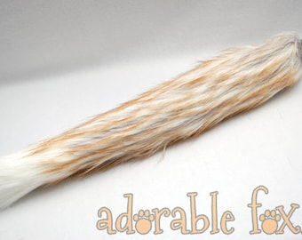 Ginger-tipped Realistic Fox Tail - Cosplay / Furry / Costume