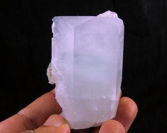 140 Grams 66 x 35 x 44 mm 100% Natural Well Terminated Aquamarine Crystal Mineral Specimen From Hunza Valley Nagar Mine Pakistan.