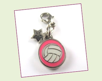 Volleyball - Mini Enamel Clip On Charm