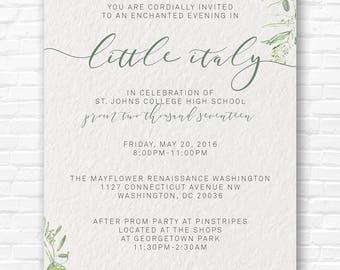 Little Italy Invitation