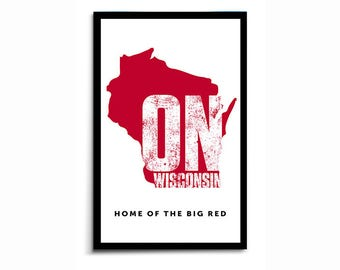 On Wisconsin - State Poster