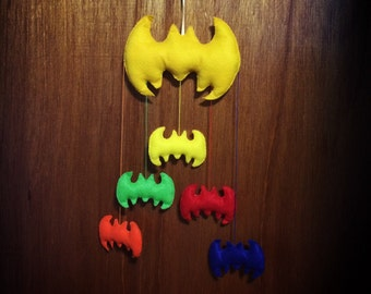 Colorful Batman Mobile / Wall Decor