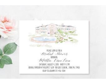 Custom Venue Invitation - Custom Wedding Venue Portrait - Invitation, Save the Date