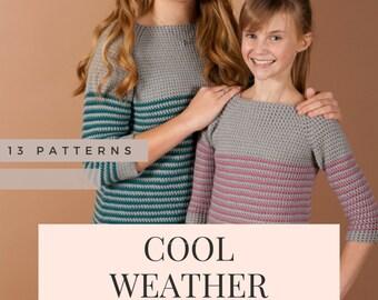 CROCHET PATTERN EBOOK - women crochet sweater, children crochet sweater, crochet pattern