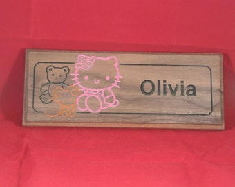 Hello Kitty Personalized name Plaque