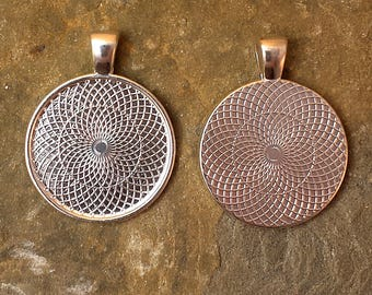 Round Silver Plated, Pendant Tray, Bezel, Blank, 25mm, 1 Inch, 25 Pieces